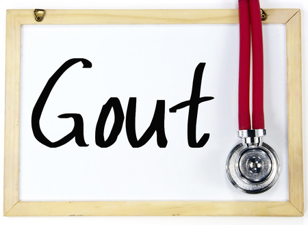 gout: gout word write on whiteboard