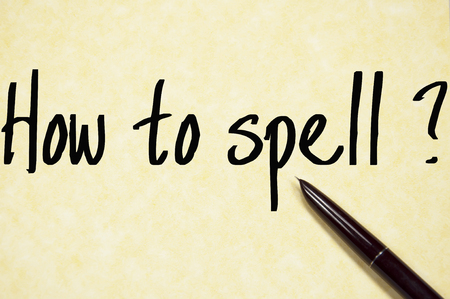 spell: how to spell question write on paper