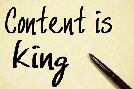 rey: contenido es el rey de escritura de texto en papel