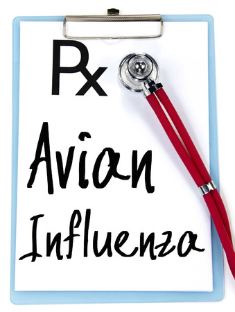 avian: avian influenza text write on prescription