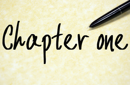 chapitre: chapter one text write on paper Banque d'images