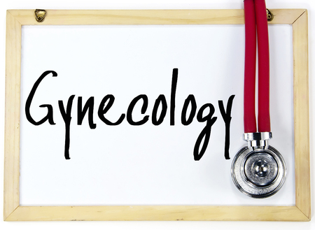 gynecology: gynecology word write on whiteboard