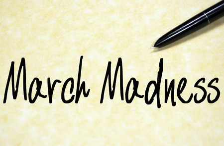 march madness text write on paper Stock Photo