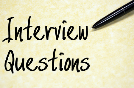 questions: interview questions text write on paper