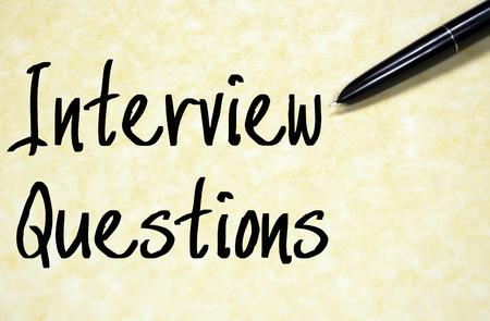 entrevista: preguntas de la entrevista de texto de escritura en papel