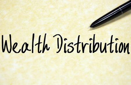 disparity: wealth distribution text write on paper