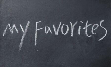 my favorites text write on blackboard