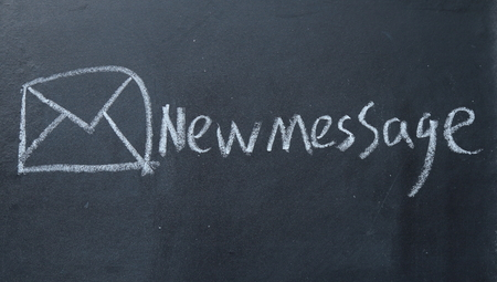 joining services: new message sign on blackboard