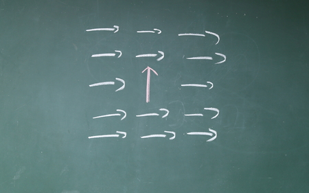 divergence: Unique red arrow symbol
