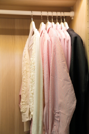 garderobe: A few pieces shirts Stock Photo