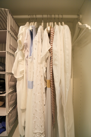garderobe: wardrobe clothing Stock Photo