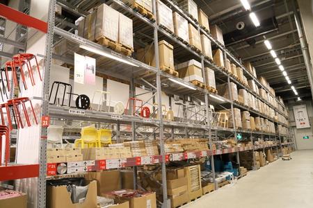 ikea: SHANGHAI-JULY 2015, 9 Baoshan District Shanghai IKEA store logistic warehouse Editorial