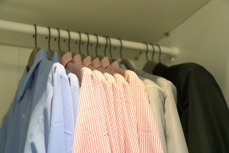 garderobe: mens cabinet Stock Photo
