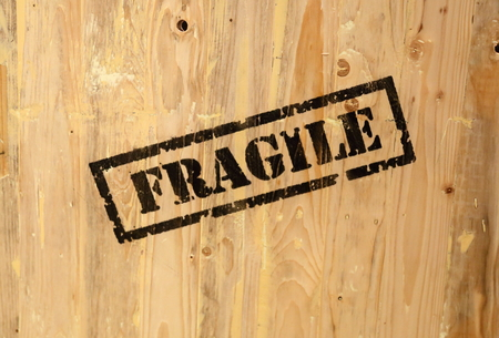 fragile sign Stock Photo