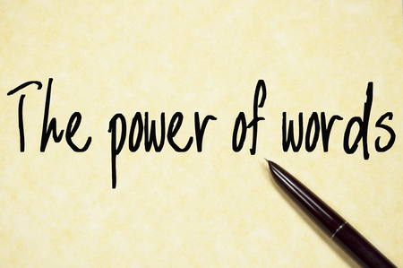 the power of words sign Stock Photo