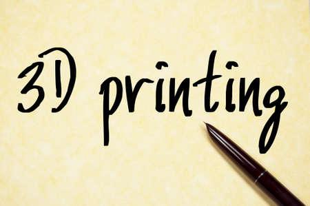 printed machine: 3D printing sign