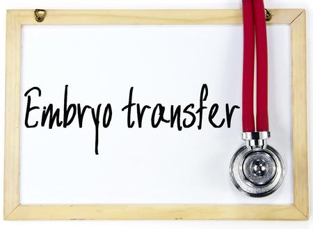 embryo transfer sign Stock Photo