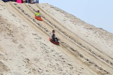 Slippery sand movement