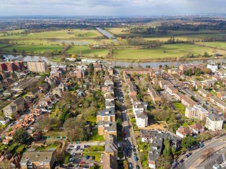 Aerial view of Surbiton  , London, UK Stock Photo