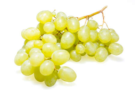 green grapes on white isolated background