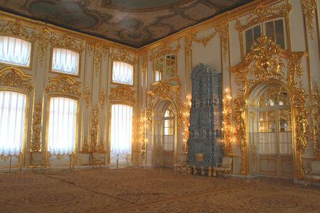 ámbar: Yekaterinksy Palacio en Tsarskoe Syolo (Pushkin) en Rusia. Mis otras fotos de San Petersburgo. Foto de archivo