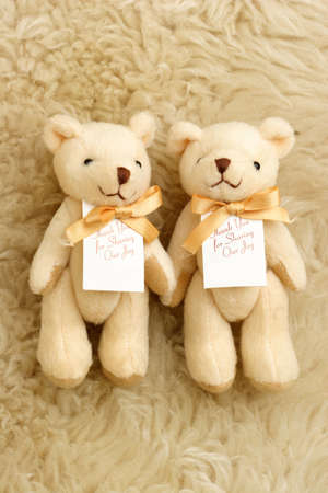 romantic couple bear with joy photo