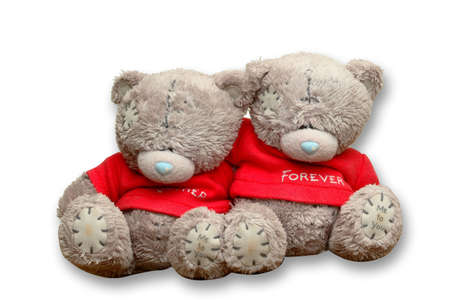 romantic couple bear with forever Stock Photo - 4543957