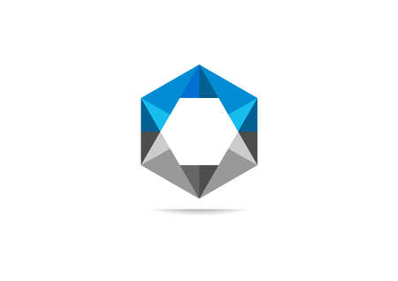 abstract hexagon corporate business corporate icon design Illustration
