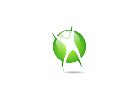 Body healthy success icon design.