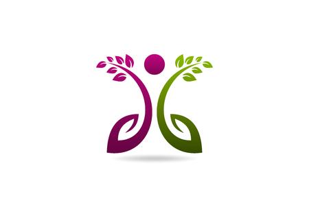 Beauty gezonde zorg icon design.root schoonheid gezonde concept. Stock Illustratie