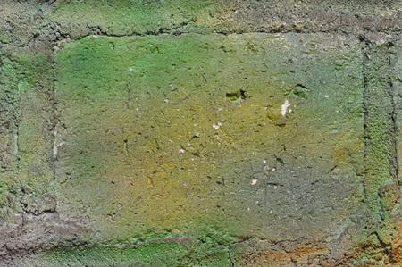 green brick wall texture background