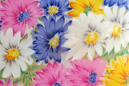 plastic flower background Standard-Bild