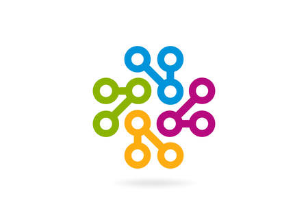 circle, corporate business vector icon design 矢量图像