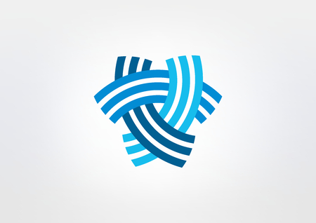 abstract triangle corporate vector icon design