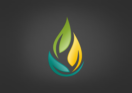 leaf vector icon design