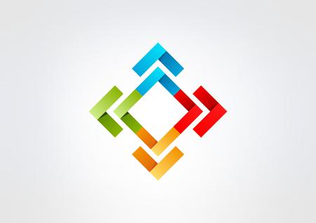 square corporate business  vector logo design Illustration