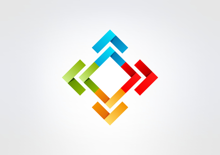 square corporate business  vector logo design 矢量图像
