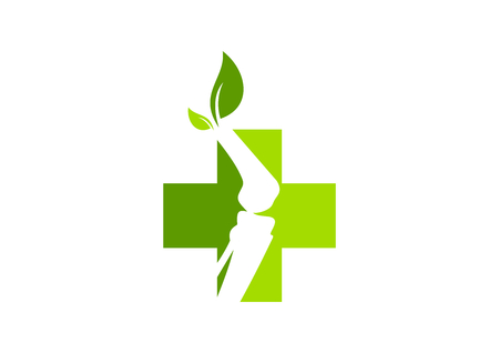 Green cross  pharmacy orthopedic logo