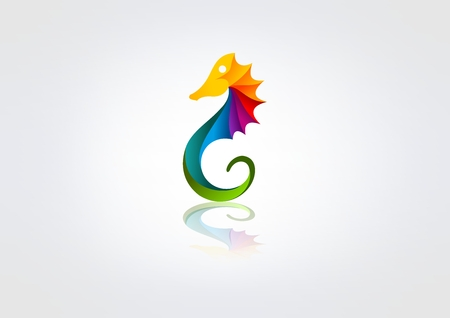 seahorse corporate business vector icon