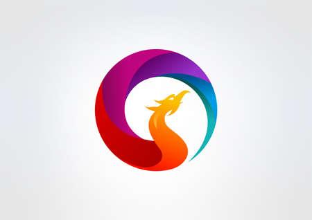 voador: design de logotipo vector Phoenix Ilustra��o