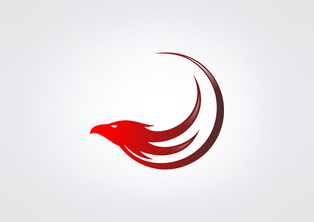 red heads: hawk business vector logo design