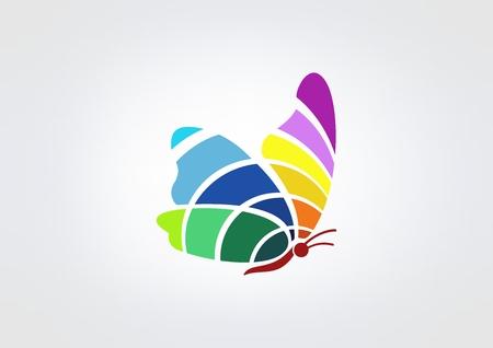 simbolo de la mujer: mariposa icono vector plantilla de dise�o