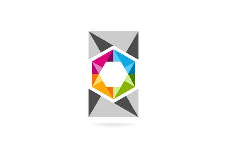 cube square business icon design