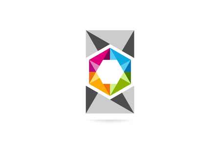 cube square business icon design