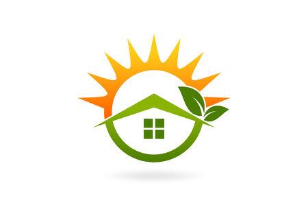 home eco friendly icon 矢量图像
