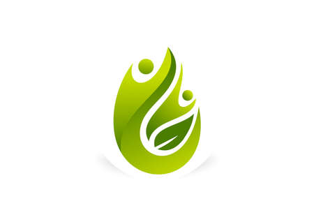 green human body healthy success logo