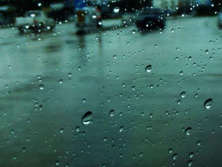 crossway: raindrop on road