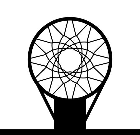 Monohrome basketbal mand pictogram geïsoleerd op een witte achtergrond, vector illustratie Vector Illustratie