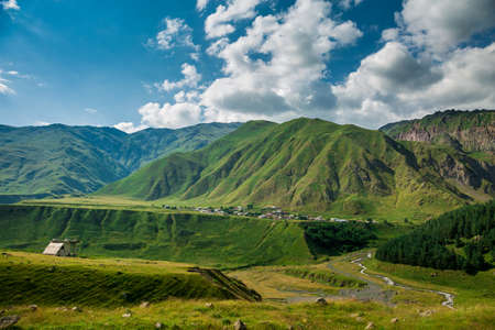 geological feature: Mountain Landscape Stock Photo
