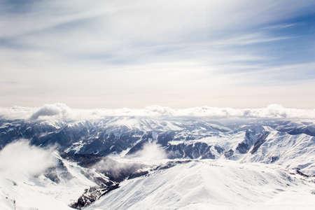 wallis: Winter landscape in the Matterhorn